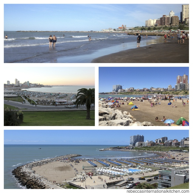 Beaches in Mar del Plata, Argentina