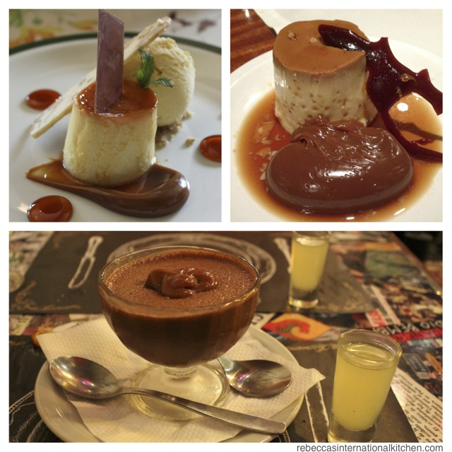 ... from Argentina) - Flan & Mousse de Chocolate con Dulce de Leche