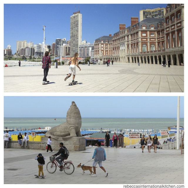Take a walking tour along La Rambla and the beaches of Mar del Plata, Argentina