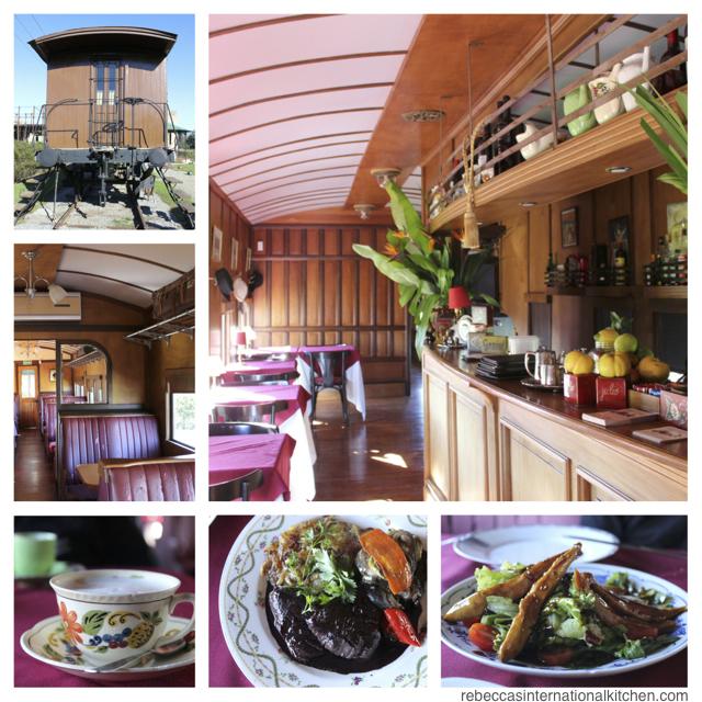Train Car Dining in Colonia del Sacramento, Uruguay