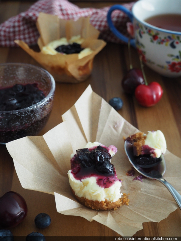 Easy Mini Cheesecakes with Berry Topping